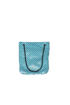 Turquoise Brass Shoulder Bag-0