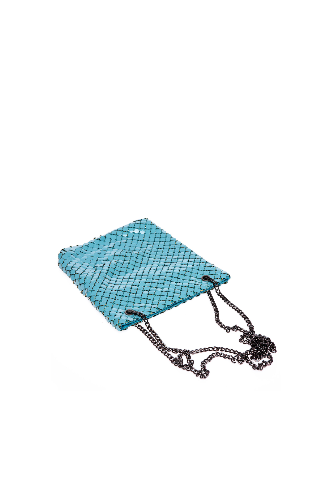 Turquoise Brass Shoulder Bag