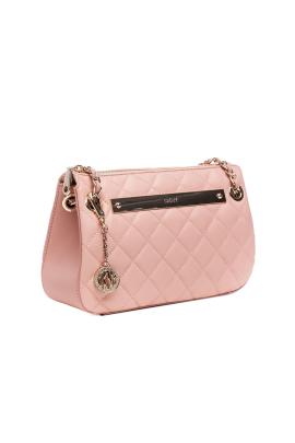 Blush Quilted Leather Bag / VILNIUS-3