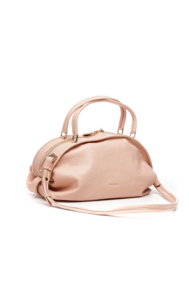 Nude Grained Leather Bag-2