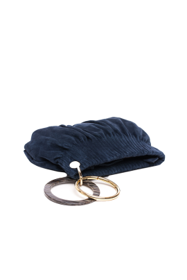 Blue Suede Ring Hand Bag-2