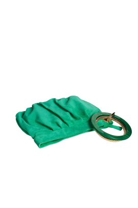 Green Suede Ring Hand Bag-2