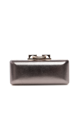 Metallic Leather Clutch-0