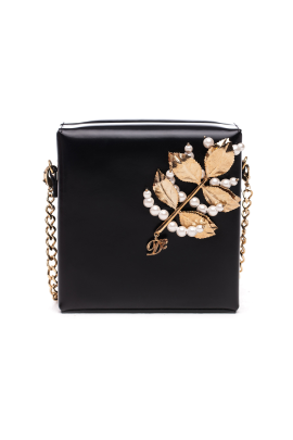 Polished Golden Leaf Clutch-0