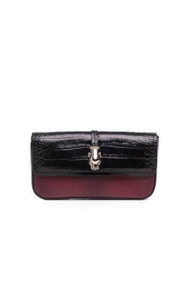 Calfskin Crocodile Print Clutch Bag-0