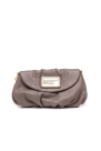 Grey Leather Mini Hand Bag