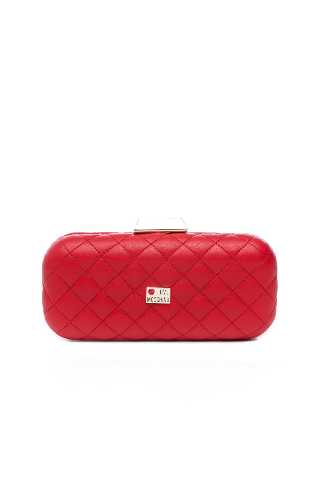 Red Mini Quilted Clutch Bag