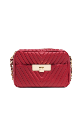 Suzannah Small Red Quilted Bag-0