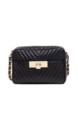 Suzannah Small Black Quilted Bag -0