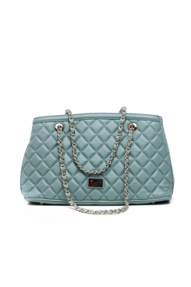 Quilted Light Blue Bag-0
