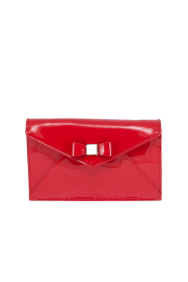 Clear Red Leather Bag-0