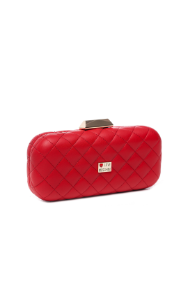 Red Mini Quilted Clutch Bag -2