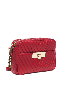 Suzannah Small Red Quilted Bag-2