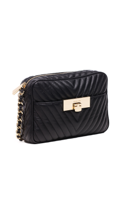Suzannah Small Black Quilted Bag-2