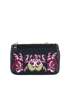 Floral Embroidered Clutch-0