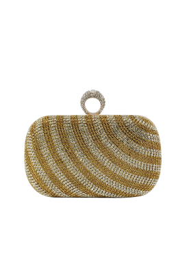 Gold Stripe Classic Clutch-0