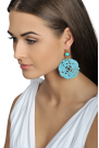 Turquoise Carved Earrings