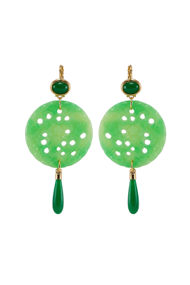 Jade Carved Earrings-0