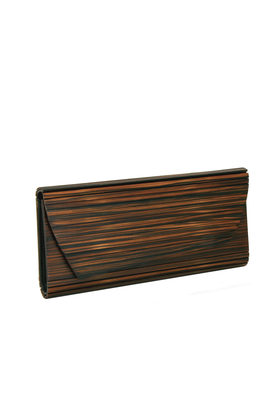 Brown Wooden Clutch