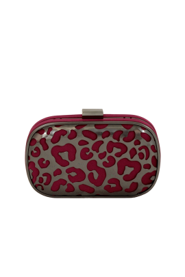Burgundy Cutout Clutch-0