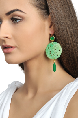 Jade Carved Earrings-1
