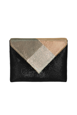 Color Block Envelope Clutch-0