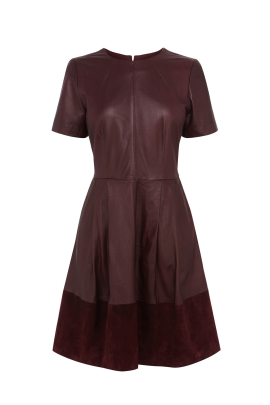 Marsala Leather Dress /VILNIUS-0