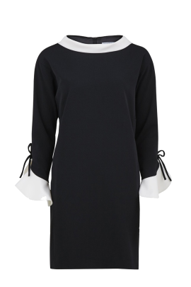 Black Moss Crepe Dress -0