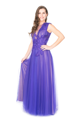 Purple Anhinga Gown-0