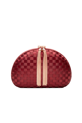 Lovie Burgundy Clutch-0
