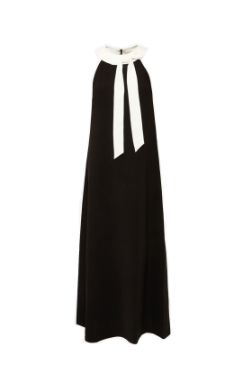 Neck Tie Maxi Dress-0