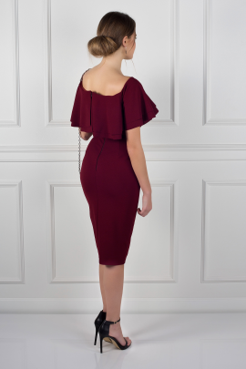 Double Ruffle Pencil Dress-1