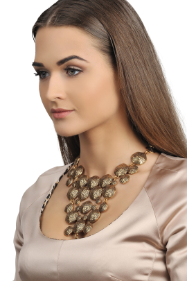 Swirl Gold-plated Necklace-1