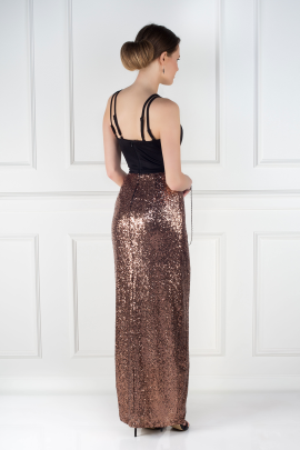 Cross Strap Sequin Dress-1