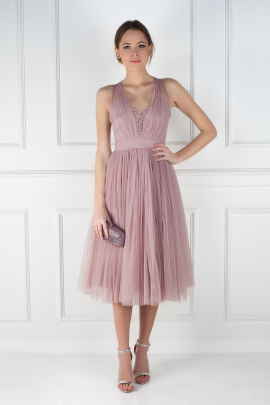 Dust Lilac Cherie Dress / VILNIUS -0