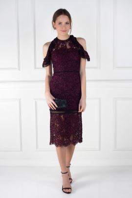 Burgundy Evie Dress-1