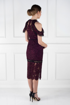Burgundy Evie Dress-2