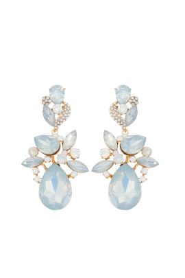 Pearl Teardrop Statement Earrings-0