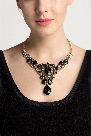 Teardrop Bubble Evening Necklace