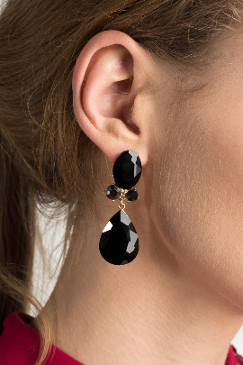 Teardrop Bubble Evening Earrings-0