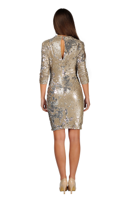 Nude Sequin Bodycon-2