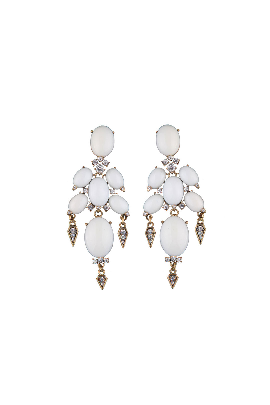 White Gothic Earrings-0