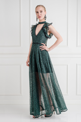 Eleanora Emerald Gown -2