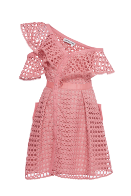 Pink Frill Mini Dress-0