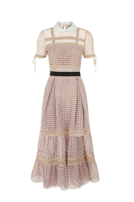 * Crosshatch Tiered Dress-1