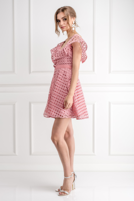 Pink Frill Mini Dress-3