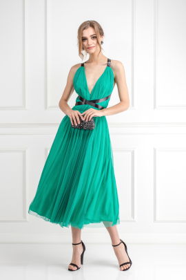 Emerald Green Tulle Dress-0