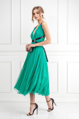 Emerald Green Tulle Dress-1