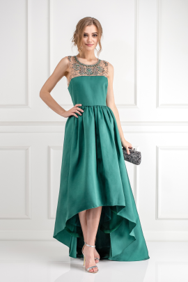 Emerald Satin-twill Gown-2
