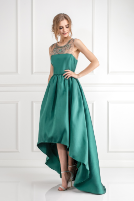 Emerald Satin-twill Gown-3